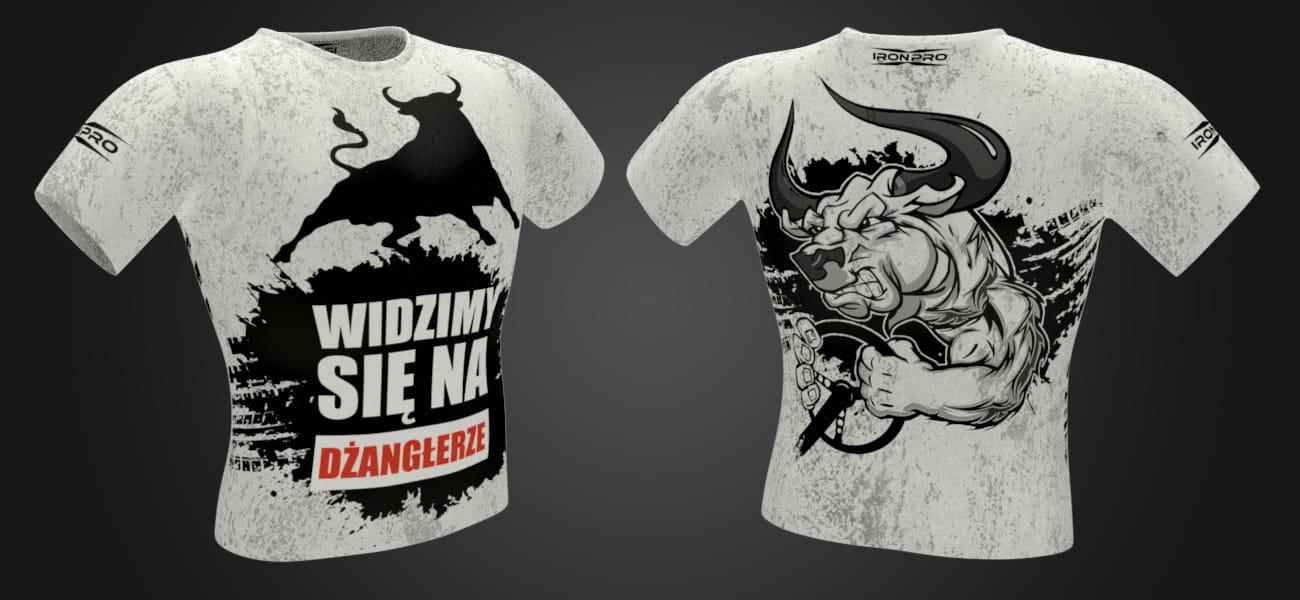 2744d41eb Koszulka męska termoaktywna - Dżangłera biała. t-shirt_white.jpg